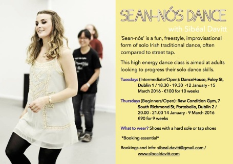 Sean-nós in 2016 flyer